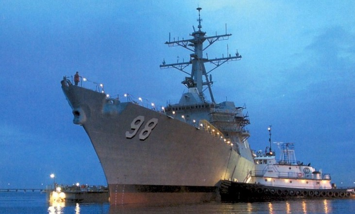 Arleigh Burke class DDG Guided-missile destroyers with Naval TV Antenna Systems